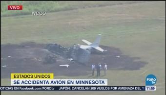 Se accidenta avión en Minnesota