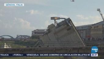 Se derrumba puente en Italia
