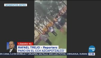 Se Enfrentan Estudiantes Cierre Cch Azcapotzalco
