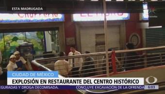 Se registra explosión en la churrería El Moro de la CDMX