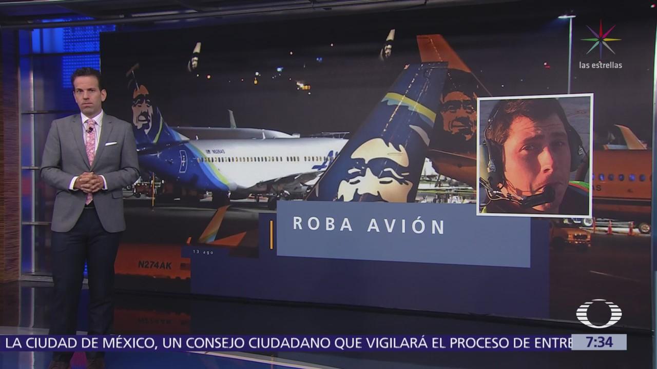 Seattle: Roba avión sin pasajeros y lo estrella
