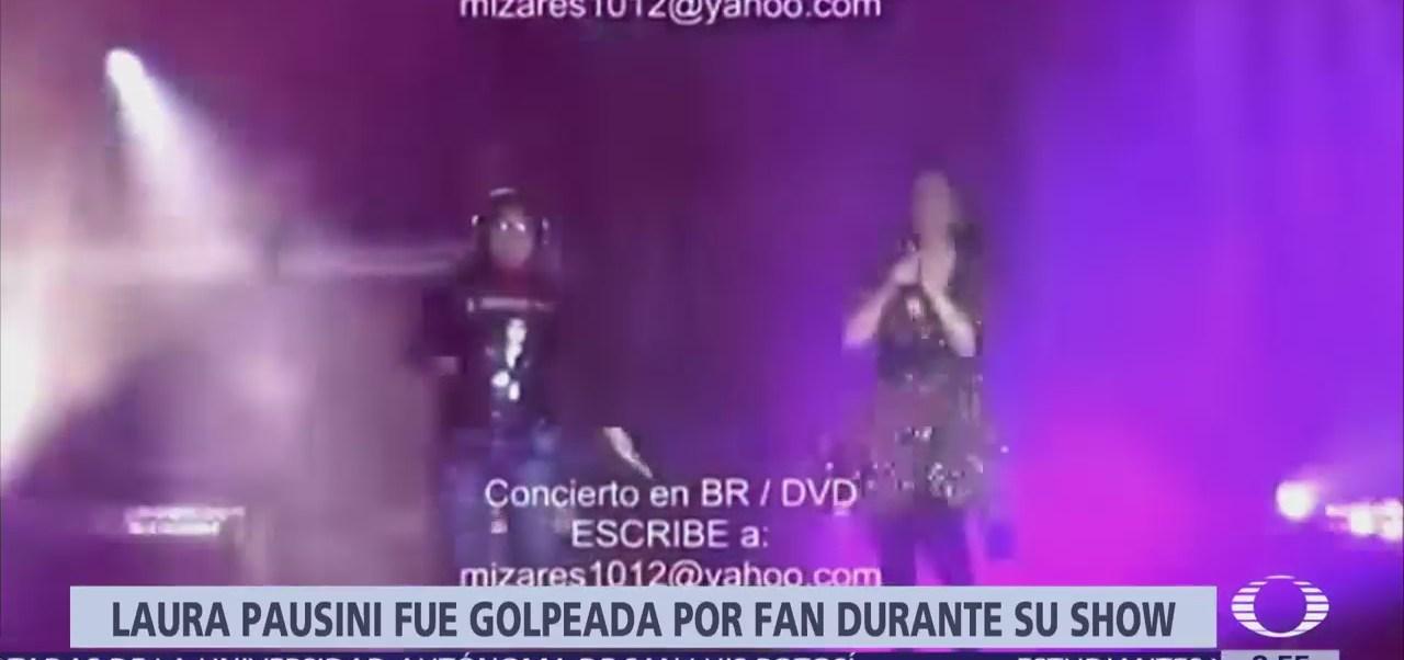Seguidora golpea por accidente a Laura Pausini durante concierto en Lima