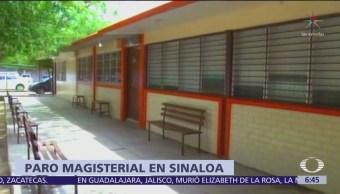 Sinaloa: Paro de maestros afecta a uno de cada 3 estudiantes