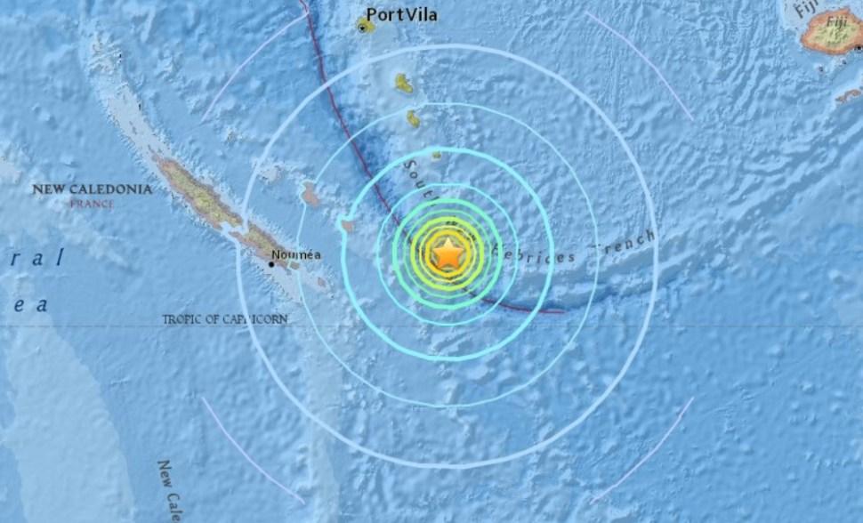 Sismo de 7.1 grados Richter sacude Nueva Caledonia, en el Pacífico sur