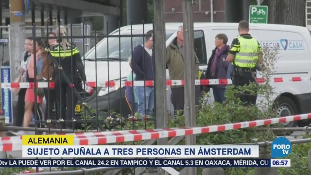 Sujeto apuñala a tres personas en Ámsterdam