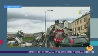 Suman al menos 11 muertos por colapso de puente en Genova