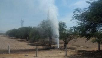 Toma clandestina en Guanajuato; controlan fuga combustible