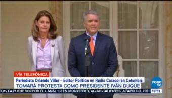 Tomará Protesta Presidente Colombia Iván Duque