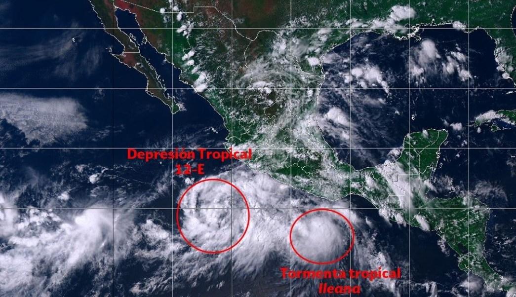 Sistemas tropicales afectarán costas de México