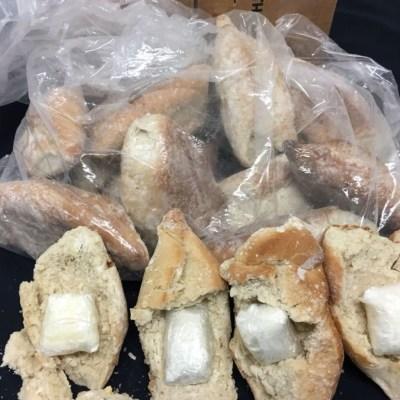 Decomisan 'tortas de cocaína' en aeropuerto de Guadalajara, Jalisco