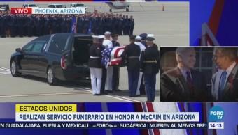 Trasladan restos de McCain a Washington