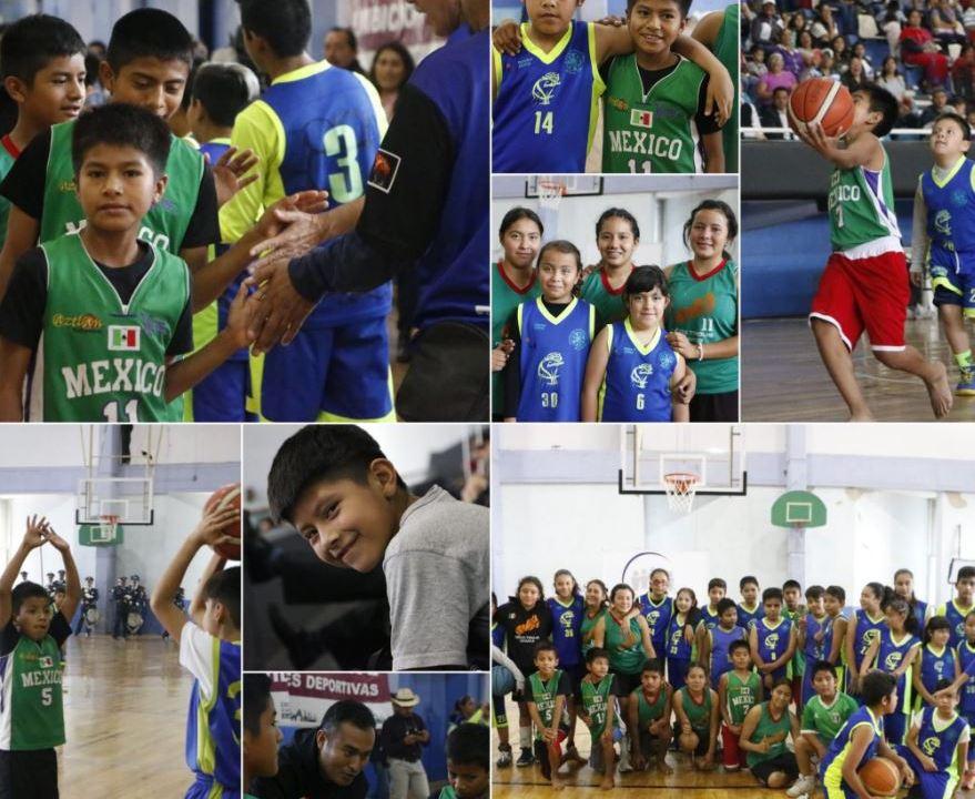 Niños triquis ganan partido de básquetbol en CDMX