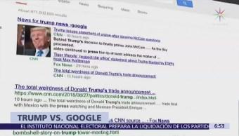 Trump acusó a Google, Facebook y Twitter de no ser imparciales