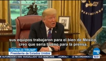 Donald Trump Enrique Peña Nieto Anuncian Entendimiento Comercial Negociadores Del Tlcan Equipos