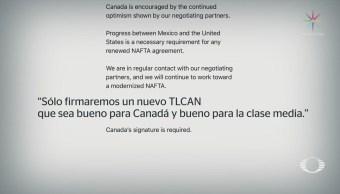Trump y Trudeau destacan progresos con México