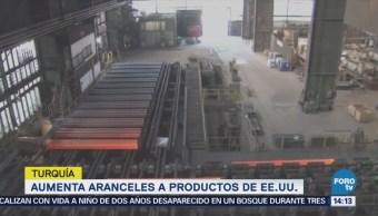 Turquía aumenta aranceles a productos de Estados Unidos