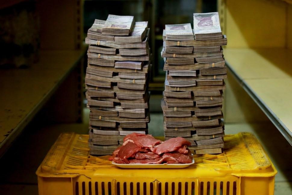 Un kilo de carne cuesta 9 millones y medio de bolívares, equivalente a unos 720 pesos.