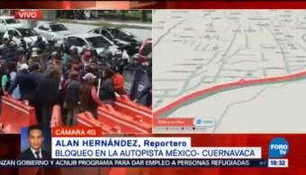 Vecinos Tlalpan Protestan Autopista México-Cuernavaca