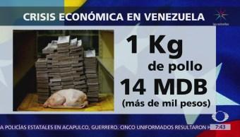 Venezuela: Un kilo de pollo se vende en mil pesos