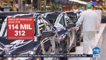 Venta de autos en México baja