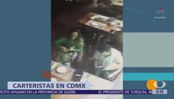 Video capta a carteristas en la Condesa