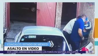 Video capta asalto en Coacalco, Estado de México