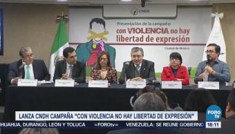 Violencia Contra Periodistas Centro Campaña CNDH