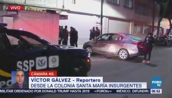 Vuelca vehículo particular colonia Santa María Insurgentes
