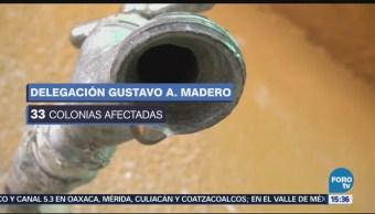 Reducción Suministro Agua Azcapotzalco Gam