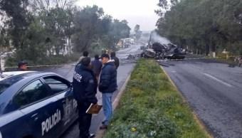 Choque de tráiler en Lechería-Texcoco