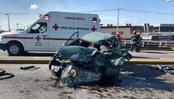 Accidente carretero dejas 4 lesionados en Aguascalientes