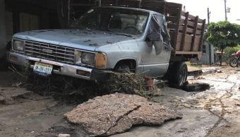 Lluvias dejan afectaciones en La Central, en Manzanillo, Colima
