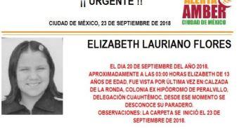 Activan Alerta Amber para localizar a menor en la Cuauhtémoc