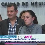 Amieva y Sheinbaum informan sobre los avances reconstrucción