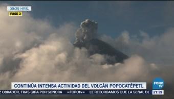 Aumenta Actividad Popocatépetl Últimas Horas Fumarola