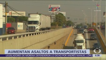 Aumentan asaltos a transportistas en Veracruz, Puebla
