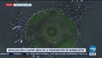 Avanza Marcha Memoria Normalistas Ayotzinapa Asesinados