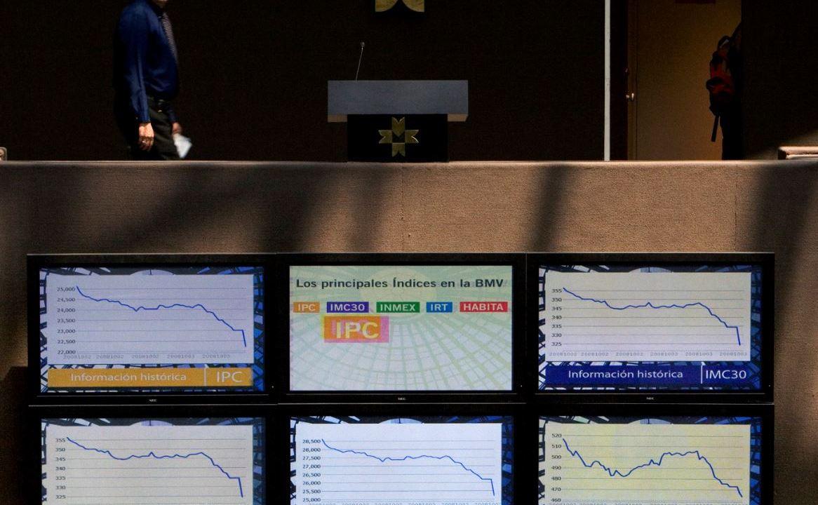 Bolsa Mexicana de Valores cae, espera noticias del TLCAN