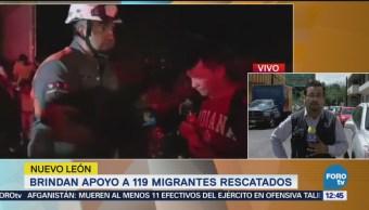 Brindan apoyo a 119 migrantes en Nuevo León