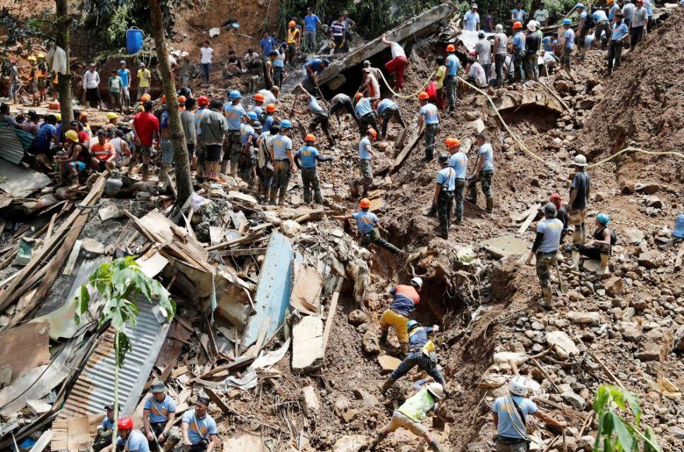 Buscan a filipinos sepultados en mina por tifón Mangkhut