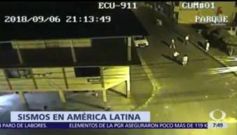 Cadena de sismos afecta tres países de América Latina