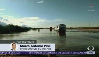 Cajeme, Empalme, Guaymas y Huatabampo, afectados por lluvias