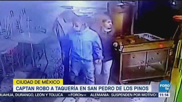 Captan robo a taquería en San Pedro de los Pinos