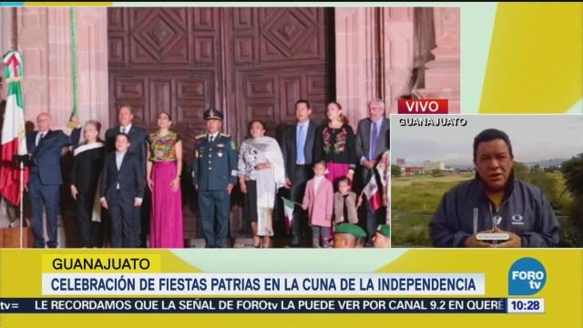 Celebración Fiestas Patrias Guanajuato Grito Independencia