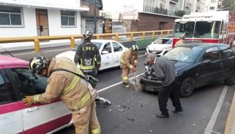 CDMX: Taxista en estado de ebriedad choca en Chapultepec