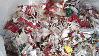 Destruyen más de un millón de cigarros y artículos apócrifos en Veracruz