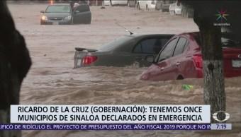 Confirman 3 muertos en Sinaloa por lluvias e inundaciones