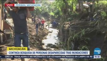 Continúa búsqueda de personas desaparecidas en Michoacán