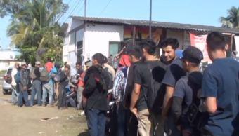 Cruz Roja atiende a migrantes centroamericano