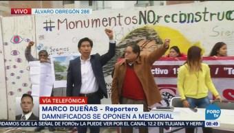 Damnificados de 19S se oponen a memorial en colonia Roma